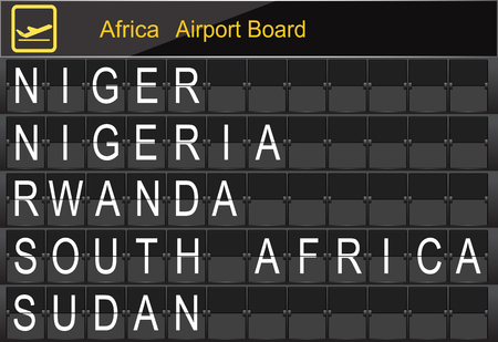 Africa Country Airport Board Information Imagens - 78744741