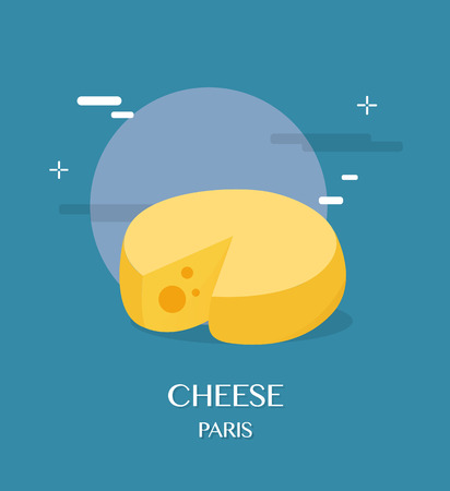 blue cheese: Tasty cheese with blue background illustration design Illustration
