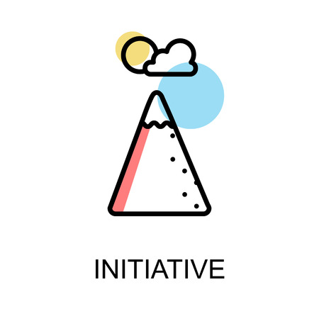 Initiative icon on white background illustration design.vector