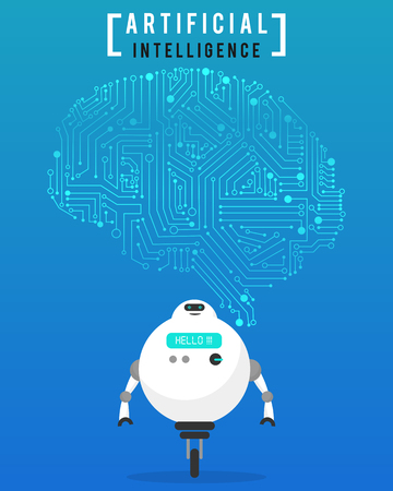 Artificial intelligence (AI) with high technology illustration design