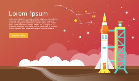 dipper: The big dipper and space shuttle illustration.vector design Illustration