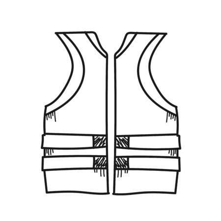 rescuing: Life Jacket for rescuing illustration on a white background Stock Photo