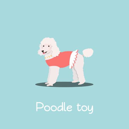Caniche encantadora juguete pet illustration design.vector