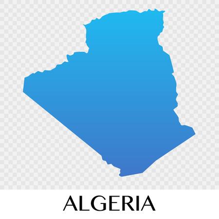 Algerai map in Africa  continent illustration.vector Illustration