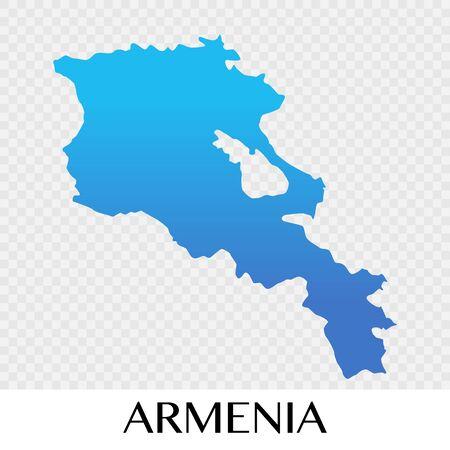 Armenia map in Asia continent illustration design