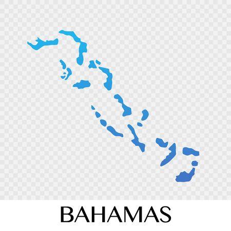 Bahamas map in North America continent illustration design Illustration