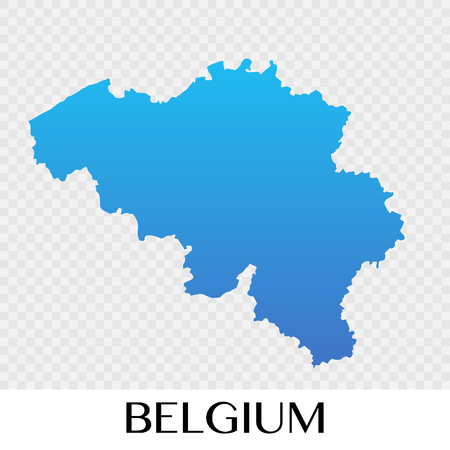 Belgium map in Europe continent illustration design Illustration