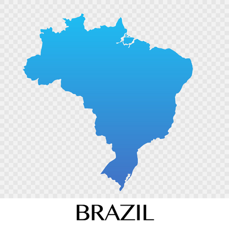 Brazil Map In South America Continent Illustration Design Royalty - Brazil south america map