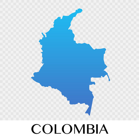 Colombia map in South America continent illustration design Illustration