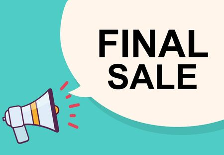 Final sale word for announcement illustration graphic design Stock Photo
