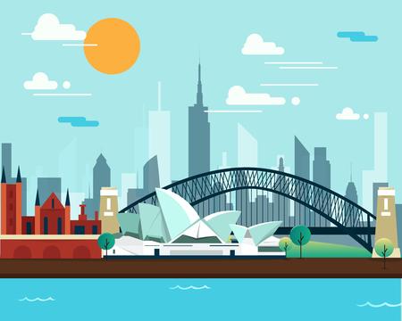 シドニー オペラ ハウスと旅行のための橋