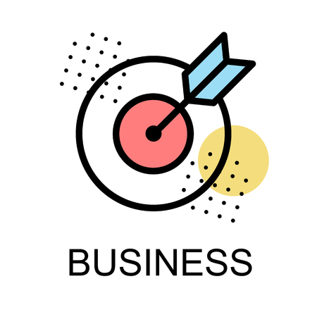 Arrow with dartboard illustration for business