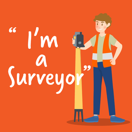 Surveyor character with high technology device