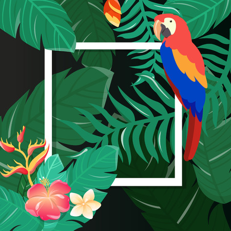 Tropical Flowers Background Summer Design