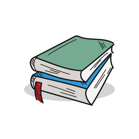 Illustrazione del libro su uno sfondo bianco