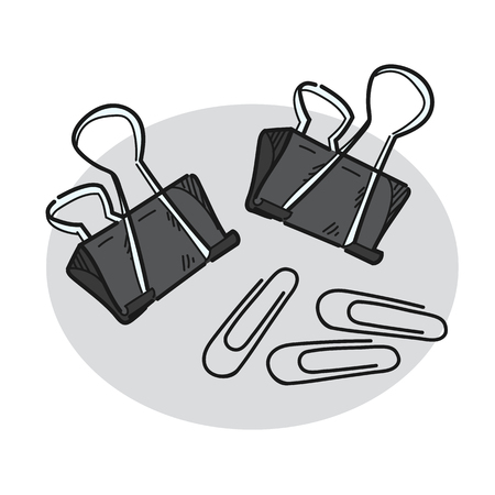 Paper clip illustration on a white background Illusztráció