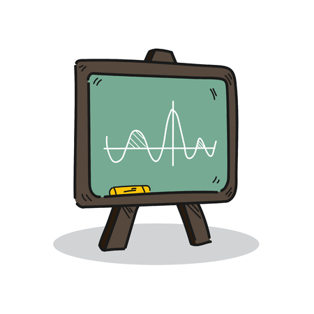 Blackboard illustration on a white background.