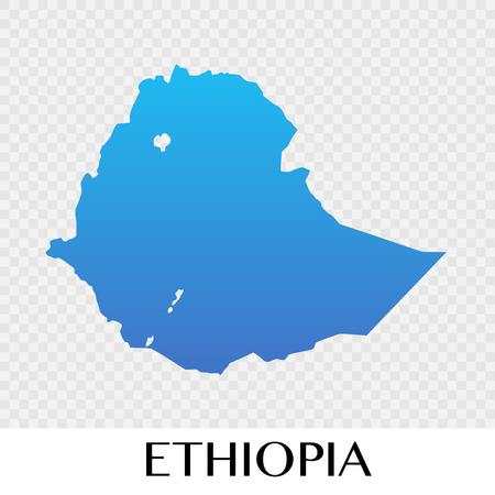 Ethiopia map in Africa  continent illustration design