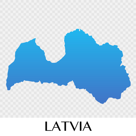 Latvia map in Europe continent illustration design