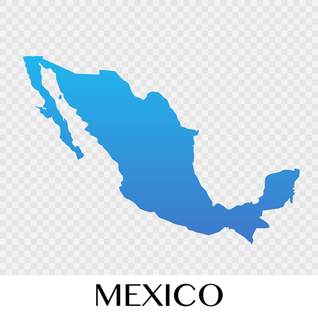 Mexico map in North America continent illustration design