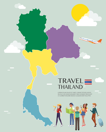 Map Of Thailand Vector And Illustration.