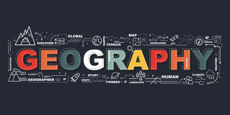 Design Concept Of Word Geography Website Banner.