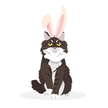 A cat with bunny ears