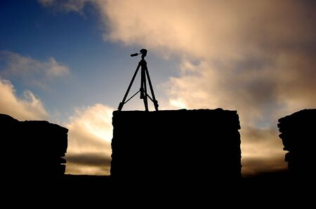 This photo shows a tripod at sundown Stock Photo - 6511935