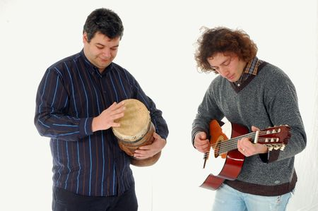 This photo shows two playing together ! Stock Photo - 6532195