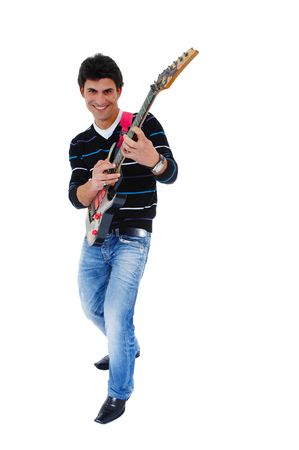 This photo shows an music artist and is guitar.