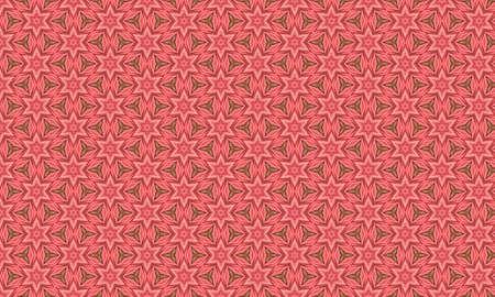 seamless pink pattern with geometric pattern Stock Photo