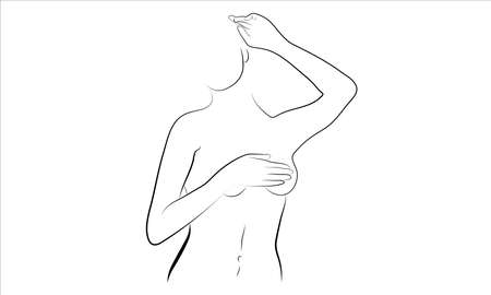 A vector illustration of a nude woman. Ilustracja