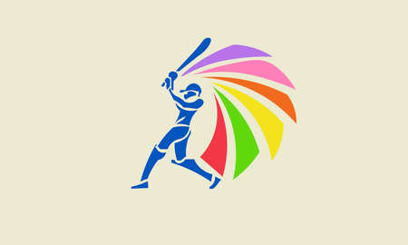 A vector illustration of colorful sport logo.
