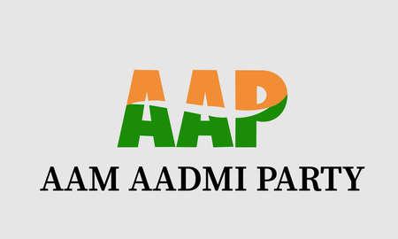 New Delhi : April 2020 : A vector illustration of Aam Aadmi political Party's logo.