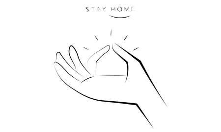 A vector illustration artwork of hand sign Illustration