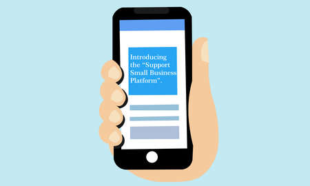 A vector illustration of smartphone with text massages. Illustration