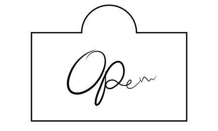 A vector illustration artwork of open board hanging. Illustration