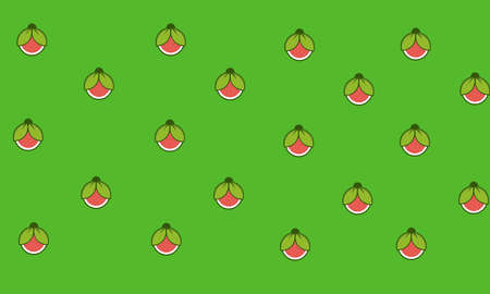 A vector illustration of seamless background with watermelon