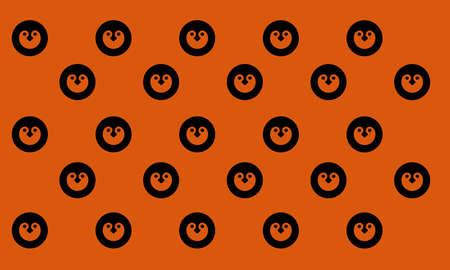 A vector illustration of penguin head pattern. Illustration