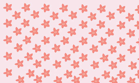 An artwork of seamless pink flower pattern on pink background