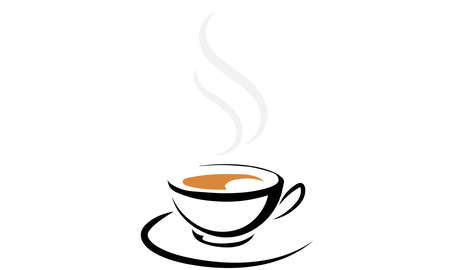 A vector illustration artwork of coffee cup. Illustration