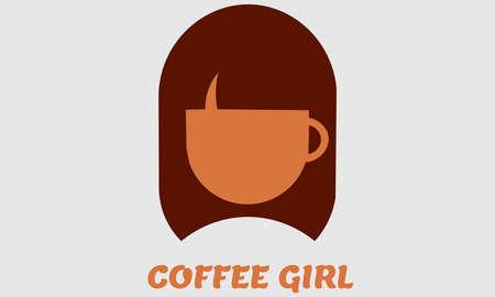 A vector illustration artwork of silhouette girl head .