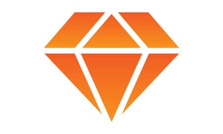 A vector illustration artwork of colorful diamond