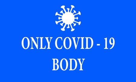 A VECTOR ILLUSTRATION ARTWORK OF COVID - 19 DEAD BODY INFORMATION BILLBOARD