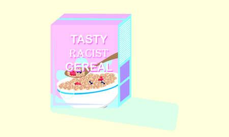 A vector illustration artwork of breakfast cereal package.