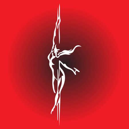 A illustration artwork of pole dancer .