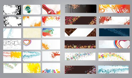 Mix collection business cards and banners Vector