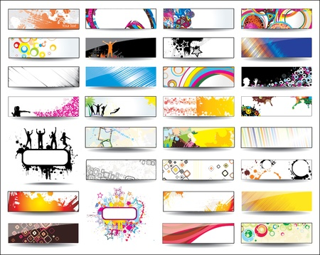 Collection Banners Stock Vector - 12945355