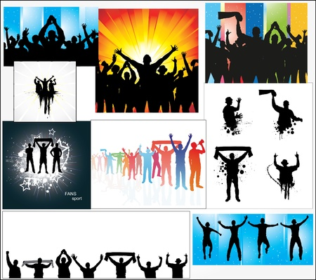 fan dance: Set of posters for sports championships Illustration