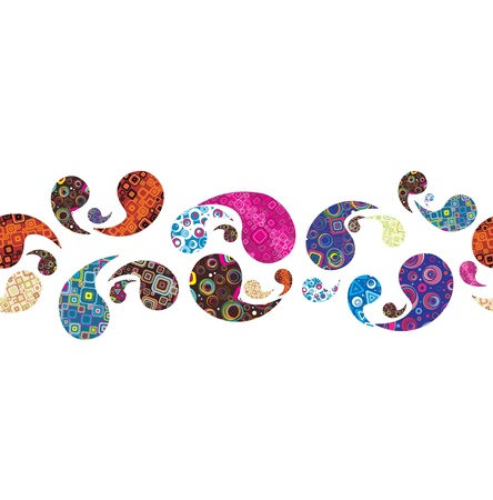 paisley background: Seamless cheerful background Illustration